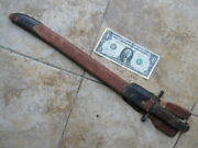 Wwii Japanese Marine Steel Bayonet And Rare Fabric Frog Last Ditch Combat Relic