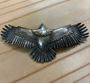Goroand039s Silver Eagle Pendant Top Large Rare Genuine Menand039s Jewelry F/s From Japan