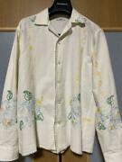 Bode Ny Embroidered Shirt Size Xs Men's Water Lily Genuine Free Shipping From Jp