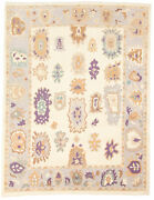 Vintage Geometric Hand-knotted Carpet 9and0392 X 11and03910 Traditional Wool Area Rug