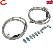 New An6 Transmission Cooler Hose Fitting 50 Braided Ss Lines For Gm Chevy Ford