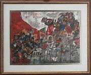 Theo Tobiasse - L/e Lithograph Of 25 Worms From Diaspora Hand-signed