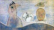 Max Ernst Rare Lithograph - Oiseaux. Hand Signed By Artist