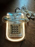 Vintage 1980andrsquos Roxanne Land Line Telephone Clear White Neon