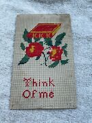 Victorian Sampler Punched Paper Think Of Me Bookmark With Roses / Bible / Book