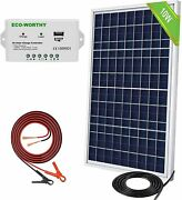 Eco-worthy 10w 12v Off Grid Small Solar Panel Kit Waterproof Charge Controller