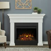 Realflame Emerson Electric Fireplace Infrared Grand X-lg Firebox Oak Or White