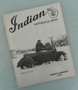 1945 Indian Motorcycle News Magazine Book Brochure Catalog Chief Scout Four 30.5