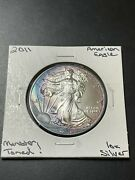 2011 American Silver Eagle 1 Coin 1 Oz Silver Monster Toning Raw1885