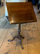 Rare 18th C. Antique Chippendale Adjustable Reading Stand
