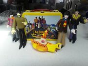 Beatles Yellow Submarine Lunch Box, New And Rare, Out Of Production + Figures