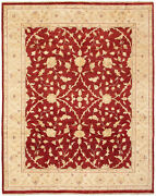 Vintage Hand-knotted Carpet 8and0390 X 10and0391 Traditional Oriental Wool Area Rug