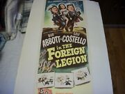 Abbott And Costello In The Foreign Legion  Original Poster 1950
