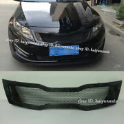 For 2011 2012 2013 Kia Optima K5 Carbon Fiber Front Honeycomb Mesh Grill Grille