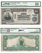 1902 10 First National Bank Of Poseyville 7036 Pmg Very Fine-25 Comment