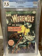 Werewolf By Night 33 Cgc 7.5 — 2nd Moon Knight — White Pages