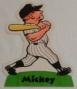 Rare Vintage 1973 1975 Mickey Mantle Cardboard Stand Up Signed 11 Bob Laughlin