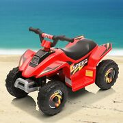 Red Electric Atv Quad 6v Kids Ride On Car Battery Powered Ride On Motorcycle