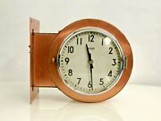 Authentic Maritime Double Sided Polished Wall Mounted Citizen Clock -1970s Lot 5