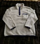 The Normal Brand Mens Large Gray Fleece Pullover Snap