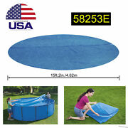 Bestway 58253e 16ft Solar Heat Cover For Round Frame Above Ground Swimming Pool