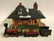 Department 56 Chadbury Station And Train Heritage Dickens Village Boxed 65285
