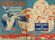 Dotto Mystery Drawing Book Mother Goose Sketches In Stretches 1930and039s