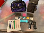 Nintendo Ds 5 Games 6 Stylus Travel Charger 2 Cases Dogs Chihuahua Jam Sessions