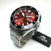 Menand039s Orient Kanno Diver Automatic Red Dial Watch Ra-aa0915r19b