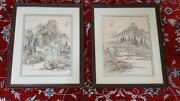Pair Of Vintage 1979 Chinese Watercolor Paintings On Paper, Signed By Shen Weng