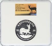 2020 South Africa Krugerrand 2 Oz Silver Ngc Pf70 First Day Of Issue Jl58