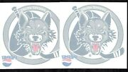 4 Ihl/ahl Chicago Wolves Turner/calder Cup Champions Window Decals Atandt And Pepsi