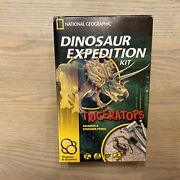National Geographic -triceratops Dino Fossil Dig Kit–excavate Fossils - Stem