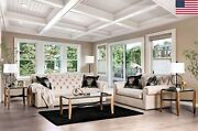 Living Room Furniture 2pc Sofa And Loveseat Button Tufted Single Seat Cushion Us