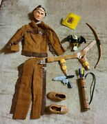 Ideal Captain Action Tonto Suit Clothing Accessories Rare Vintage 1966-67 W/ring