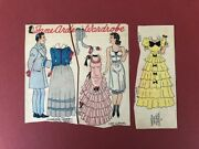 Two Uncut Jane Arden Newspaper Paper Dolls - Andrsquo30s Gowns Southern Belle + Beau