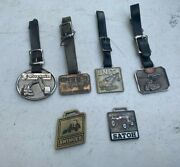 Collection Of 6 Vintage Unit Thor Satoh Construction Equipment Watch Fobs