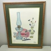 C Don Ensor That Hat Personalized Twice Signed Framed Matted 23 1/4 X 28 3/4
