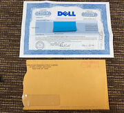 Rare Vtg 1997 Dell Computers Common Stock Certificate 14 Shares Dividend