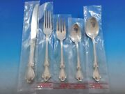 Hampton Court By Reed And Barton Sterling Silver Flatware Set Service 33 Pcs New