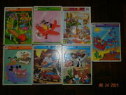 Lot Of 7 Vintage Whitman Puzzles Frame Tray Road Runner Go Bots Pluto Monsters