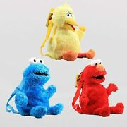 Cute 17'' Elmo Backpack Bag Toddler Stuffed Plush Toy Birthday Gift For Kids 1pc