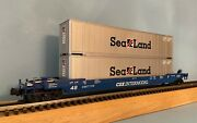 Mth Premier 20-95008 Csx Intermodal Husky Stack Car With 2 X 48' Iso Containers