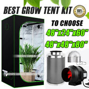 1680d Indoor Plant Grow Tents Hydroponic Reflective Box Inline Fan Carbon Filter
