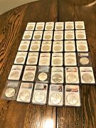 1986 To 2020 American Silver Eagle Set Ngc And Pcgs Ms69