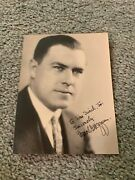 1930s Harold Hoffman Signed Photo With Inscription New Jersey Governor