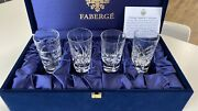 Faberge Crystal Clear Vodka Shot Glasses Brand New 100 Authentic Retails 440
