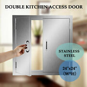 24and039and039 Double Drawer Stainless Steel Kitchen Bbq Door Outdoor Island Cabinets
