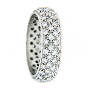 Round Cut 2.00 Ct Lab Grown Diamond Eternity Band 14k White Gold Size Selective