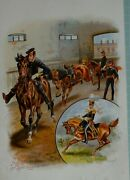 1890 Print Young Officers Ride The First Lesson 13th Light Dragoons 1840